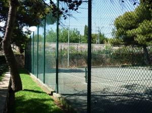 Cercado de malla simple torsión para tenis
