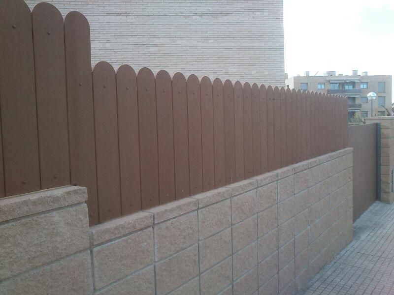Como son vallas cercados verjas enrejados poste malla varilla - Verjas de madera ...