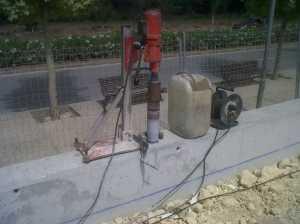Maquina para perforación en muro