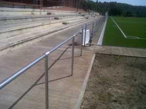 Barandilla campo futbol