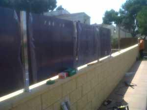 Montaje valla compacto fenolico