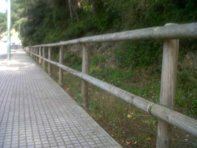 Valla de madera: valla tejana