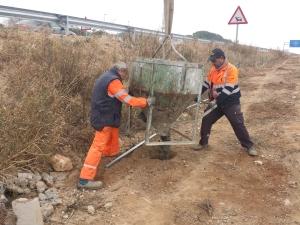 Hormigón para postes de valla