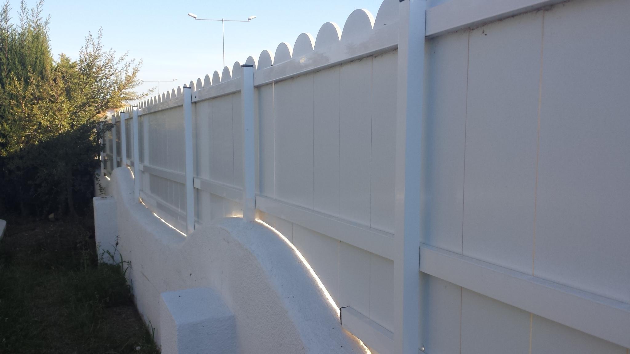 Vinuesa vallas cercados modelos valla verja lamas pvc for Vallas de pvc para jardin