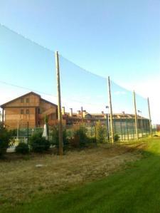 postes de madera para red de golf