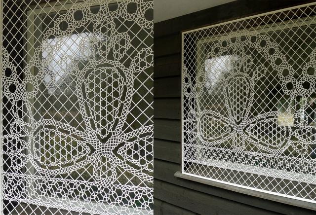 Diseño LACE FENCE en ventanas