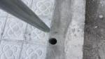 Perforacion para poste en hormigon
