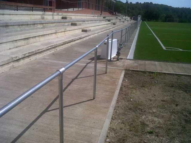 Barandilla para campo de futbol